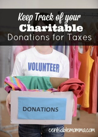 Find out how to keep track of your charitable donations you make throughout the year for your taxes.