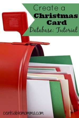 If you send out a lot of Christmas cards, it can be difficult to hand write every address. You can use this tutorial to learn how to create your own Christmas Card Database that you can use year after year to print address labels for your Christmas cards.