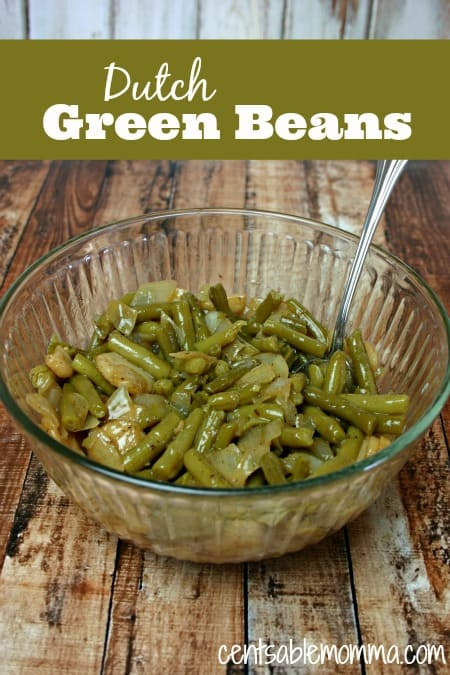 This Dutch green bean recipe is a family-favorite for Thanksgiving and Christmas dinners. With bacon for some extra flavor and water crestnuts for some added crunch, it's one of our family's favorite side dishes.