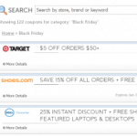 Cyber Monday Online Coupon Codes Database