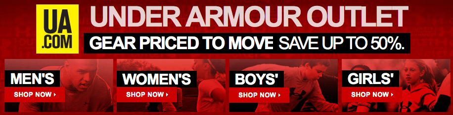 Under armour coupons tanger outlets