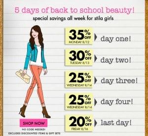 Stila Makeup on Stila Cosmetics  Back To School Sale  35  Off     Cents Able Momma