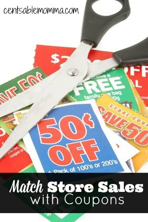 Find out how to save money at the grocery store by matching store sales with coupons to get the best prices.