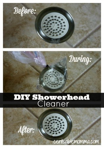 Find out how to easily clean hard water deposits off your shower head - no scrubbing needed!