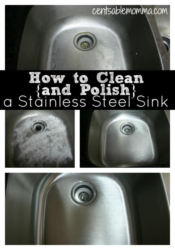 how to clean and polish a stainless steel sink centsable momma. Black Bedroom Furniture Sets. Home Design Ideas