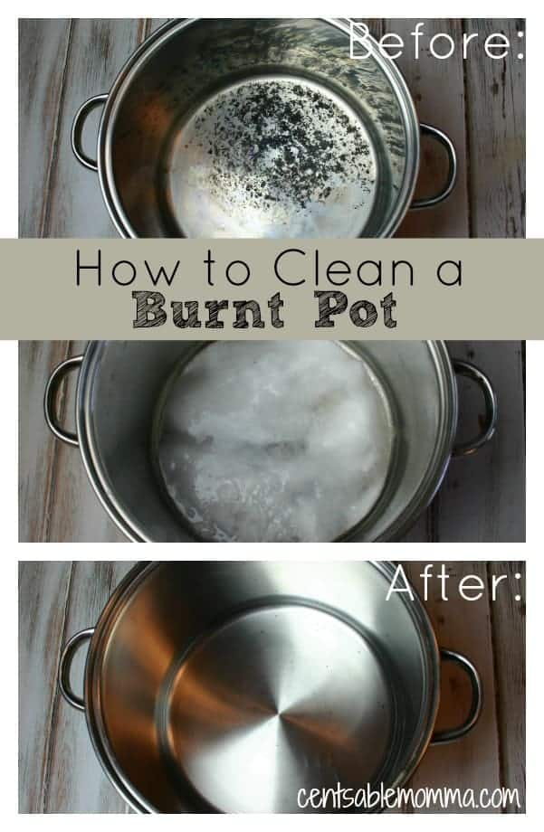 How To Clean A Burnt Pot Centsable Momma