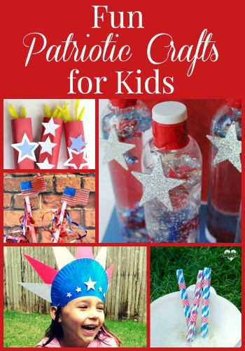 If you're looking for some fun patriotic crafts for kids, you'll love these 10 different ideas - perfect for Memorial Day or the Fourth of July!
