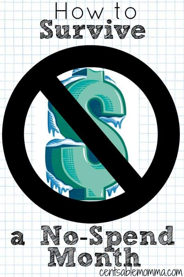 Thinking about a spending freeze to save money? Check out these tips on how to survive a No Spend Month. no spend challenge | rules | debt-free