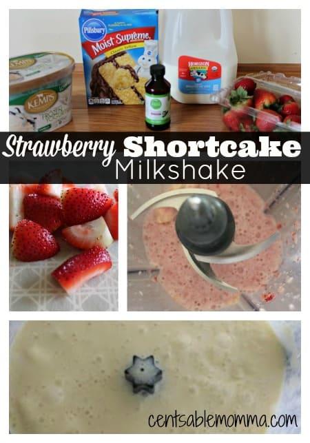 Strawberry-Shortcake-Milkshake-In-Process