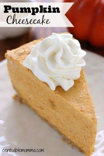 Satisfy your craving for pumpkins this fall with this no-bake Pumpkin Cheesecake recipe. It's easy to whip up and would be perfect for a Thanksgiving dessert.