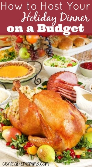 There's no need to stress about the cost of hosting your holiday meal with these 5 tips for how to host your holiday dinner on a budget.