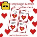 FREE Printable LEGO Valentine's Day Cards