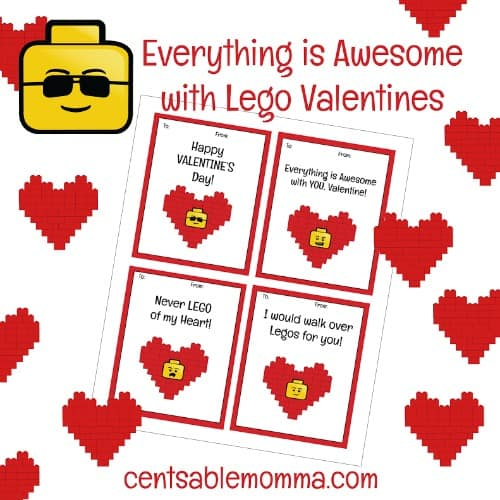 FREE Printable LEGO Valentines Day Cards Centsable Momma – Valentines Day Cards Free Printable