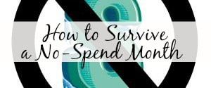 How to Survive a No-Spend Month