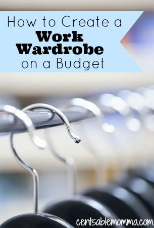 If you need dress professionally for your job, check out these article on how to create a work wardrobe on a budget to help you select pieces of clothing for work without breaking the bank (or your budget)!