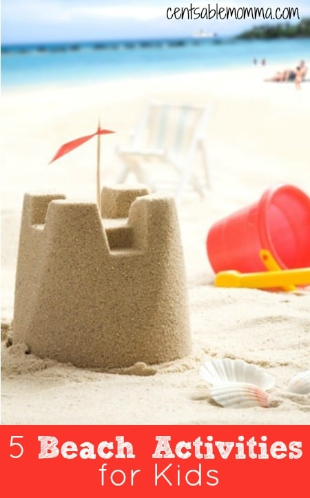 It's summertime which usually means a trip to the beach is in order!  Check out these 5 Beach Activities for Kids of some great ideas of ways to have fun without spending a ton of money.