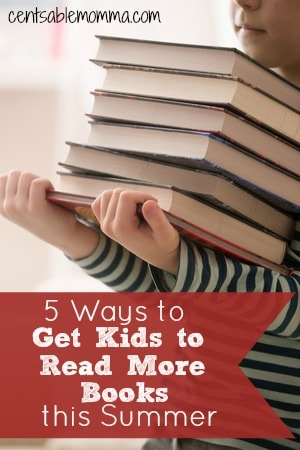 Summertime for my kids means lazy days. However, I still want them to keep up their reading skills even during the summer. Check out these 5 ways to get your kids to read more this summer for some tips to help them get more interested in summer reading.