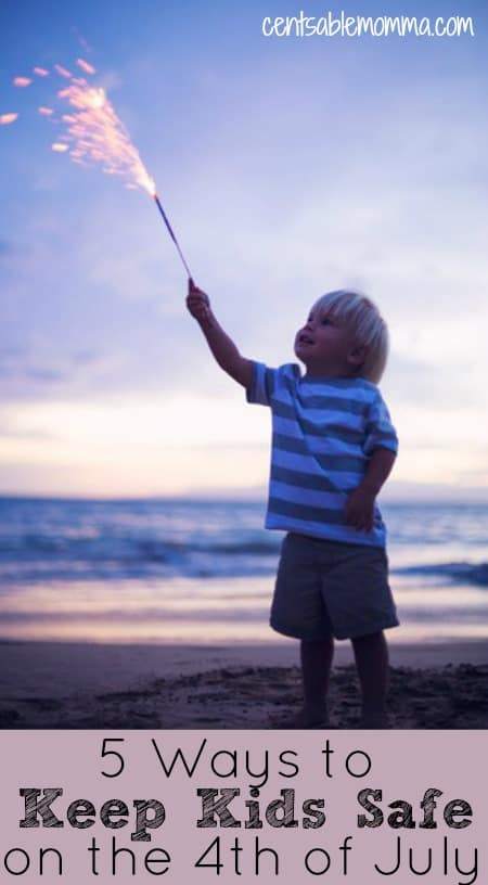 Although the 4th of July is a great holiday to spend time with friends and family, it can also be a dangerous time for children - with many hidden dangers.  Check out these 5 Ways to Keep Kids Safe on the 4th of July for tips for safety around fireworks, the water, and more this Independence Day.