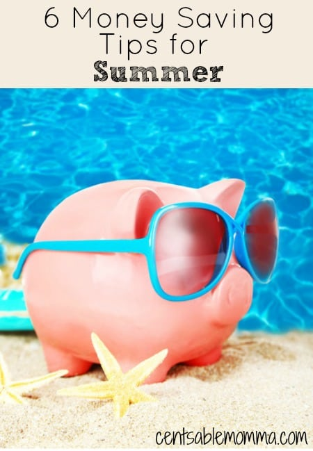 Summer can be an expensive time of the year with all the activities for kids.  Check out these 6 tips for how to save money during the summer.