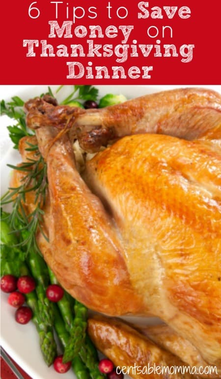 Hosting Thanksgiving dinner can get really expensive with the wide variety of foods to serve. However, you can use these 6 tips to save money on Thanksgiving dinner so you can focus on family and friends rather than the expense of dinner.