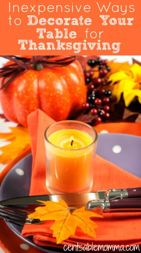 Just because you want beautiful table decor for your Thanksgiving dinner doesn't mean you have to break the bank. Check out these 5 ideas for ways to inexpensively decorate your table for Thanksgiving.