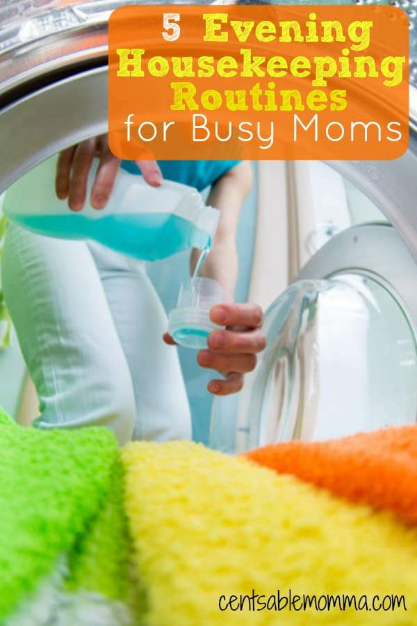 If you feel like you just don't have enough time to get everything done each day (let alone keep a clean house), you'll want to check out these 5 Evening Housekeeping Routines for Busy Moms that will help you keep your house in order.