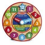 Melissa & Doug Shape Sorting Clock: $7.63 (15% off)