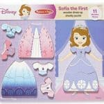 Melissa & Doug Disney Sofia the First Dress-Up Wooden Chunky Puzzle: $7.99