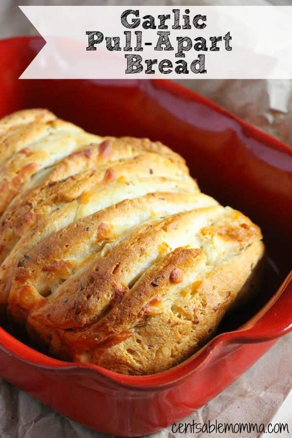 Italian dinner night even more fun with this Garlic Pull-Apart Bread ...